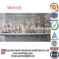 personalizado venda quente da resina de coelho figurines para a decoração do jardim
