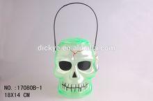 Translucent skull pumpkin candy bucket for Halloween