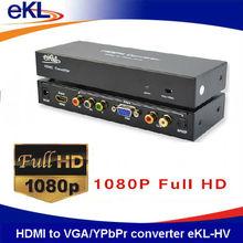 High quality HDMI to VGA/YPbPr converter HDMI input, YPbPr + VGA + RCA R/L + SPDIF output