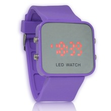 2014 new arrival hot sale Colorful Reflective LED Watch Rubber Jelly digital Watches for Women ladies Girl Men