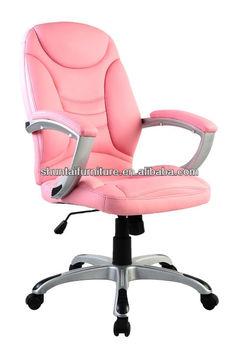 Heated Luxury Swivel Tilt Mechanism Pink Leather Executive