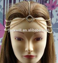 Hair chain princess crystal head chain , alloy crystal hair chain ,alloy hair accessories headband