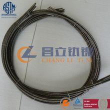 Accordion titanium tube for heat exchangers