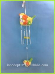 Wind chime ceramic bird