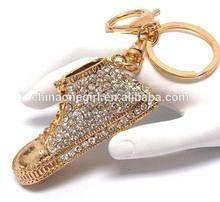 Crystal deco basketball shoe key chain