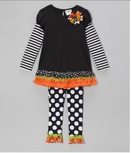 2014 Lovelybabies Girls Infant polka Dot and Stripe Tiered Ruffle Legging cmforter Set