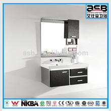 black Stainless Steel classic bathroom corner vanity storage
