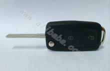 2014 hot sale VW car key with high quality good feeling black blank car key cover
