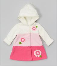 korean fashion girl style 2014 wholesale Girls cotton plaid lining upscale children's Hooded coat