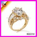 alibaba china moda de luxo cristal de zircão 18k ouro anel de casamento