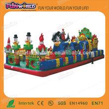 2014 hot sale big inflatable fun city /amusement park for sale