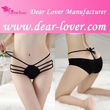 2014 nuevo de alta calidad negro sexy lady panty breve de las niñas