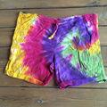 Tie dye shorts homens e mulheres design personalizado bandeira americana surf shorts/calções de praia/board shorts