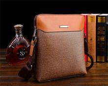 Wholesale fashion business leisure leather shoulder strap bag men