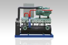 Pequeña capacidad de la máquina de bloques de hielo con salmuera de agua para congelación