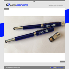 company gift 3 in 1 stylus pen ballpoint pen usb flash drive touch screen pen 8gb with company logo