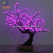 Shengjia QTY Of LEDs 216PCS LED Bonsai TREE nylon flowers butterflies
