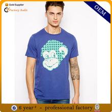ผ้าฝ้าย100%สั้นแขนออกแบบเสื้อยืดสำหรับผู้ชาย