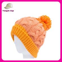 Gros pom pom bonnet tricoté motif de haute qualité livraison tricoter pour chapeau