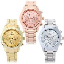 New Sports Watch Fashion Geneva Ladies Women Girl Unisex Stainless Steel Quartz Wrist wholesale china watch