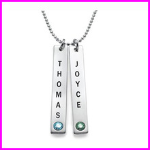 New Design 925 Sterling Silver Flat Jewelry with Name Engraved - Fashion Necklace