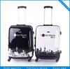 2014 fashion school bags plastic cover super light luggage