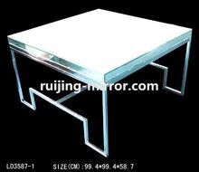 led illuminated coffee table mirror furniture