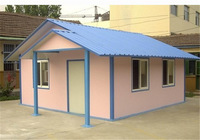 white/green/blue/ prefabricated timber frame house