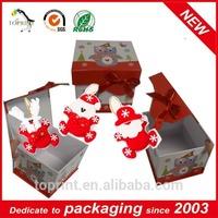 hot sell christmas gift box with free gift santa claus set toys