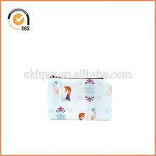 Frozen Anna and Elsa Sisters Light Blue Zipper Pouch / Cute Frozen Party Favor Bag By Chiqun Donggaun CQ-H03009