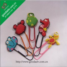 Alibaba express custom shape personalized lovely home decoration plastic bookmarks
