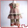 Bulk Designer Girls Wholesale Boutique Clothing Children Summer Sleeveless Floral Ruffle Wholesale Plus Size Clothing