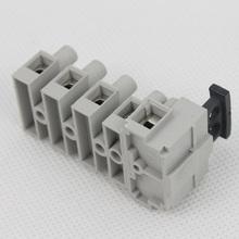 540 Yuyao Sineyi flame retardant Wire connector Anti-rotation spigot junction block wago terminals din rail mount