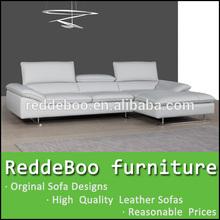 2014 sofá moderno mobiliário de importadores em forma de l sofá de projetos