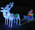 LED christmas lights santa carriage deers for outdoor decoration