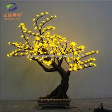 Shengjia LED Bonsai TREE handmade fabric flower with beads center