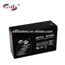 lead acid battery 6v 12ah rechargeable battery for active speaker