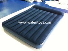 chinese supplier inflactable pvc flocked air mattress/pvc air bed mattress