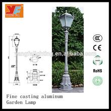 Western-style garden street light/ led street light die cast body YF-FX008/ Household Classic Yard Light for Vila