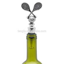silver tennis wine stopper/tennis wine stopper/silver plated wine stopper