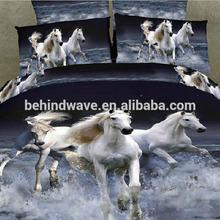 Horse Print Microfiber 3d Bed Cover Set
