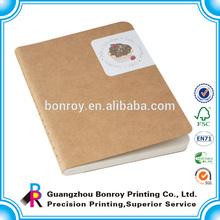 Offset printing a5 kraft notebook