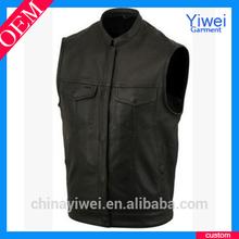 custom men sleeveless leather jacket