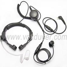 [M-E1979-M] Surveillance kits Military Throat mic equip Translucent Tube for Motorola SU220 VHF / UHF Spirit Spirit Pro SV11