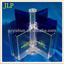 Manufacturing rotating acrylic brochure shelf