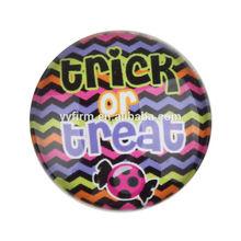 "Y4071869 Hot Sale Halloween ""Trick Or Treat"" Image Cabochon,25mm Round Rainbow Zig Zag Chevron Photo Glass Cabochon DIY"