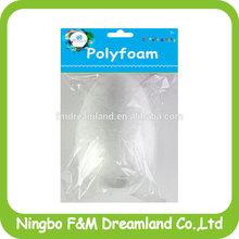 White DIY Plain polyfoam egg for kids