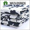 Mulinsen Textile New Design Woven Cotton Sateen Rose Flower Print Fabric
