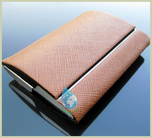 classic genuine leather name card case