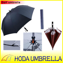 Outdoor fan pleasantly cool straight big sun and rain silver-coated couple umbrella for two person with safe net